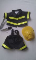 Adorable Build-a-Bear 'Fireman' 3-Piece Outfit